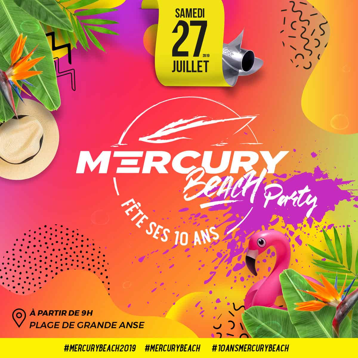 Mercury Beach Program 28 juillet 2019